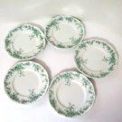 Alfred Meakin Coniston Green Bread and Butter Plates Set of 5
