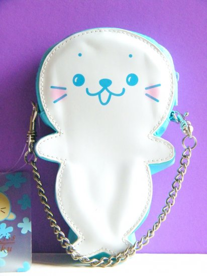 Kit-Che Kiss Puku Puku Bag With Removable Metal Chain