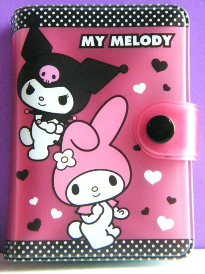 My Melody And Kuromi Sanrio 20 Pockets Card Holder For ID,Credit,Namecards