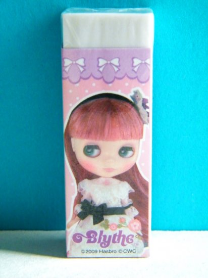 Blythe Doll With White Lacy Dress Eraser (Licensed Hasbro Product, Made In Korea)