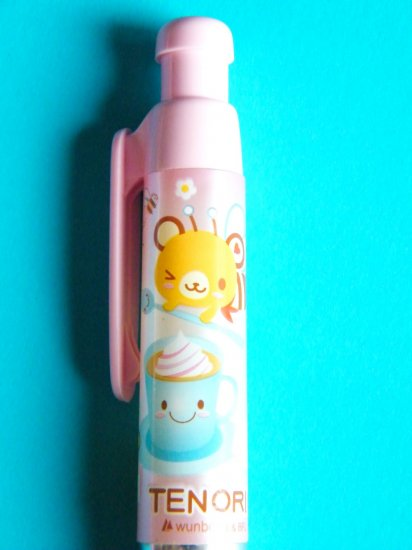 Kawaii Tenorikuma Bear Pink Chubby Ball point Pen (Blue Ink)