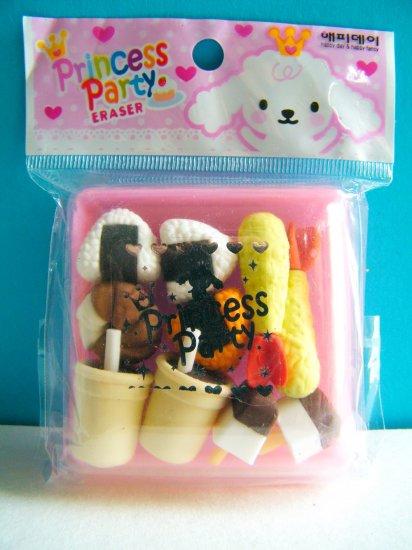 Korean Princess Party Eraser Set B