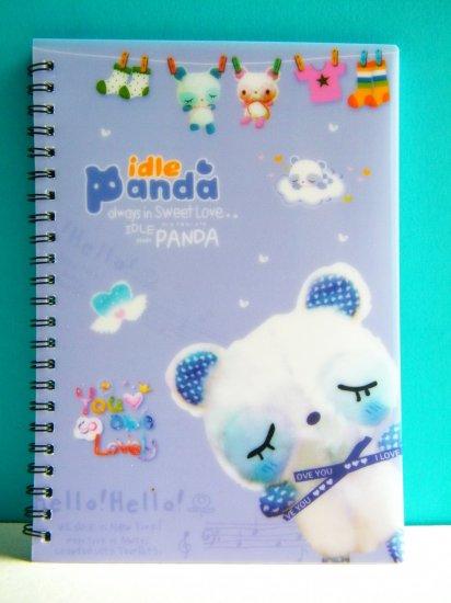 Idle Panda Medium Size Notebook/Diary/Journal (Lilac)