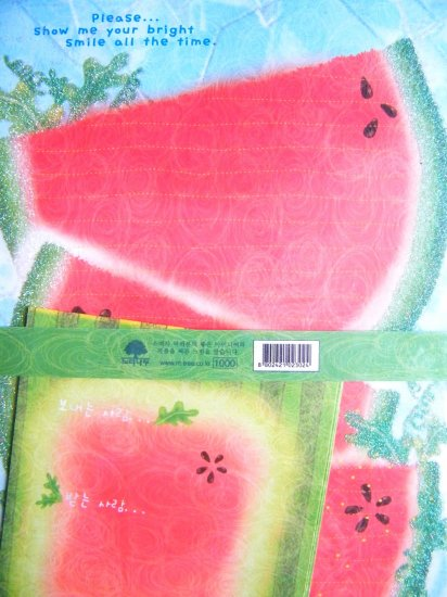 Korean Watermelon Letter Set