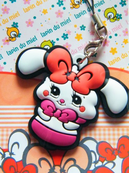 Kawaii White Bunny Cell Phone Strap