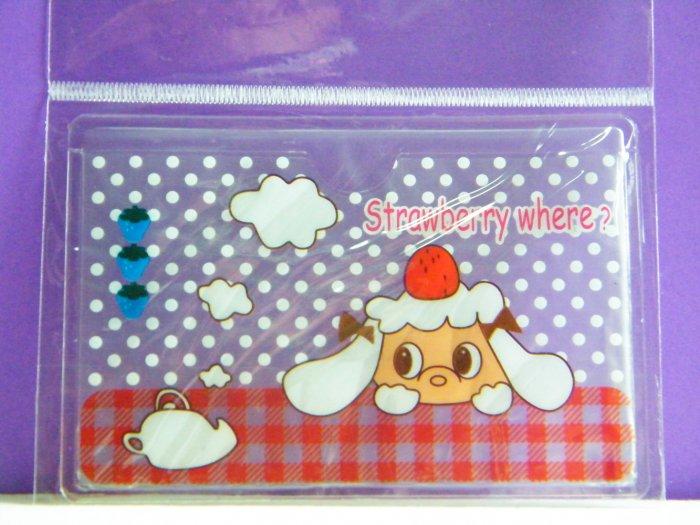 Korean Cute Lamb Skinny Double Pockets Clear Plastic Card Case