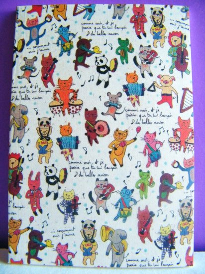Korean Artbox Animal Musicians Small Notebook With Lines