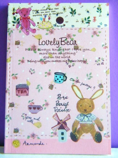 Korean Artbox Rabbit Country Charm Small Notebook With Lines