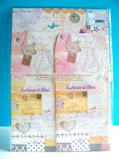 Korean Romantic Vintage Letter Set (Lovebirds,Hearts,Flowers)