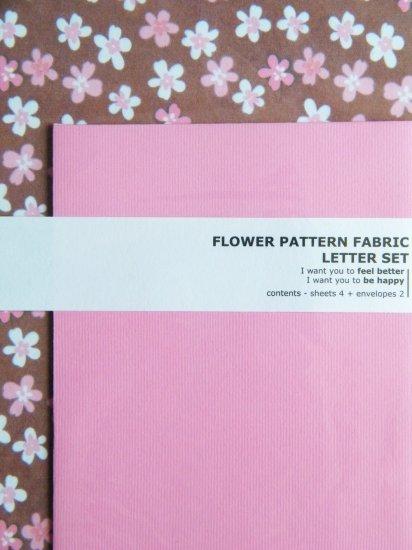 Korean Flower Pattern Fabric Letter Set (B)