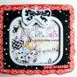 Kawaii Ribbon Lace Border Mini Memo Pad (Red)