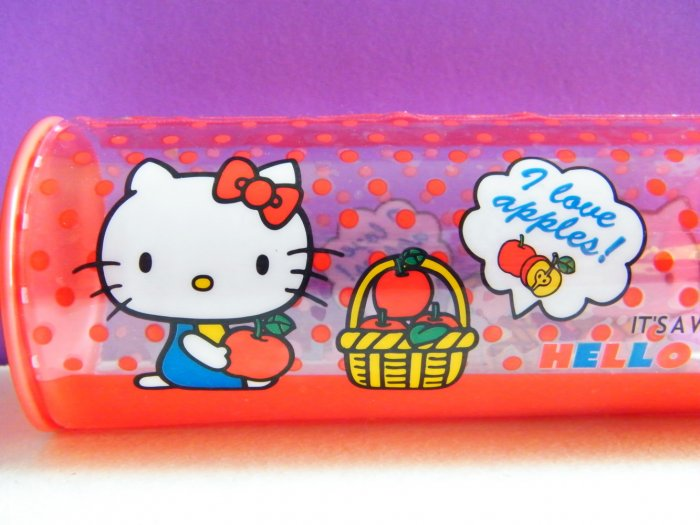 Hello Kitty Sanrio Rounded Sides Pencil Case