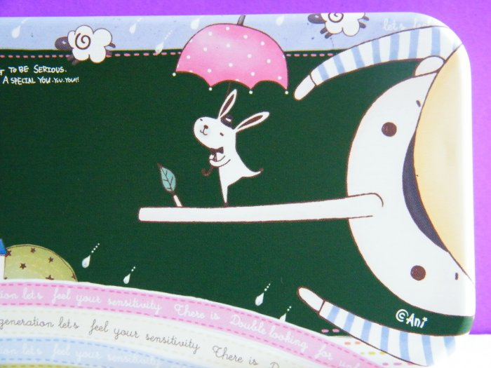 Korean Pinnochio Long Nose And Dancing Rabbit Metal Pencil Case