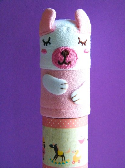 Korean Rabbit Scroll Pencil Case With Pen