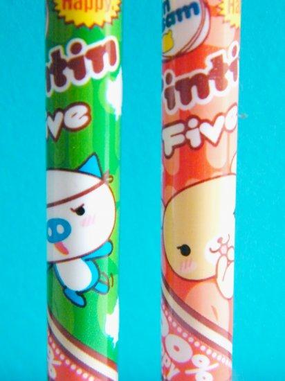 Kawaii Strawberry Bear And Pig Mechanical Pencils (Set Of 2)