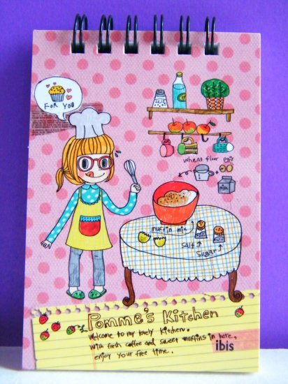 Pomme In Kitchen Memo Pad,Made In Korea