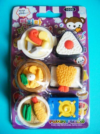 Japanese Cuisine Eraser Set