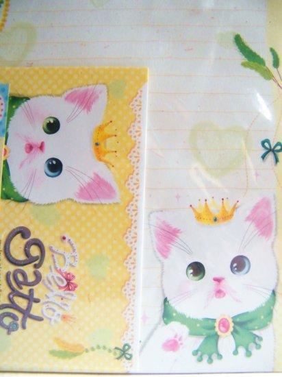 Bello Gatto Letter Set  With Sticker Seals A, Made In Korea
