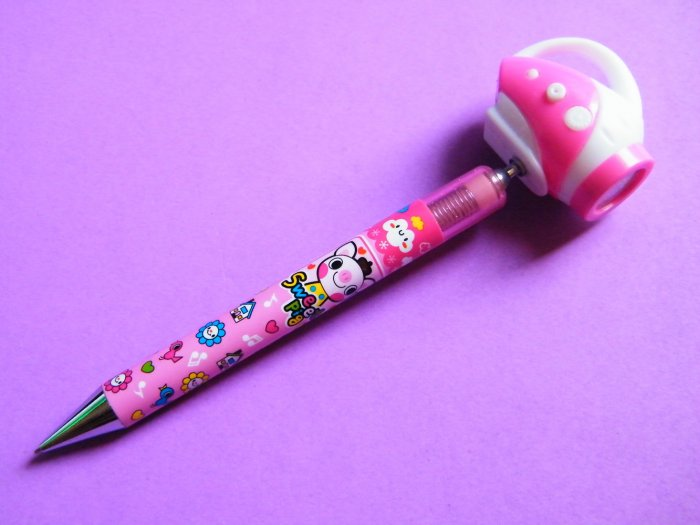 Kawaii Sweet Pig Mechanical Pencil With Giant Torch Topper