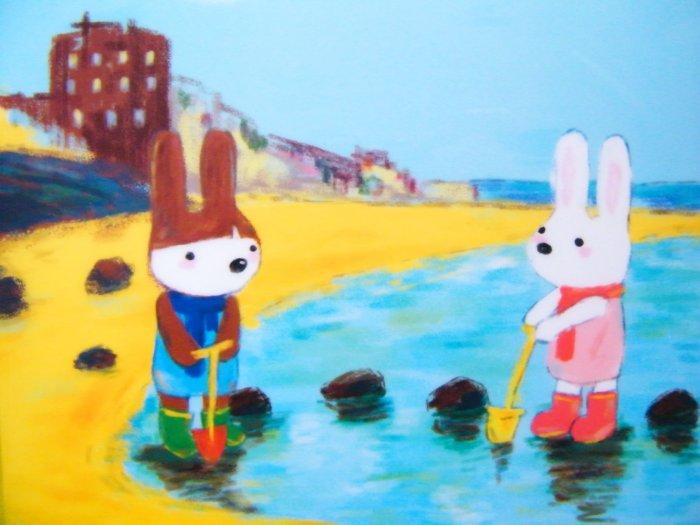 Kawaii Rabbits Happy Season By The Sea File/Folder