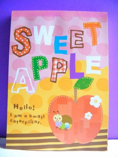 Kawaii Sweet Apple Memo Pad, Made In Japan