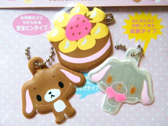 Sugarbunnies Spongy Nametag Keychains and Pin