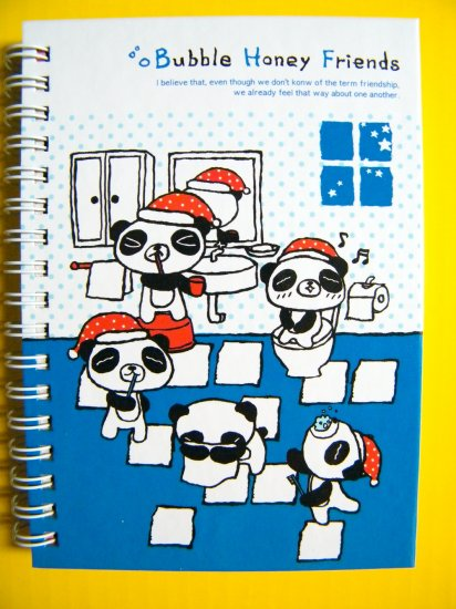 Panda Bubble Honey Friends Notebook With Lines