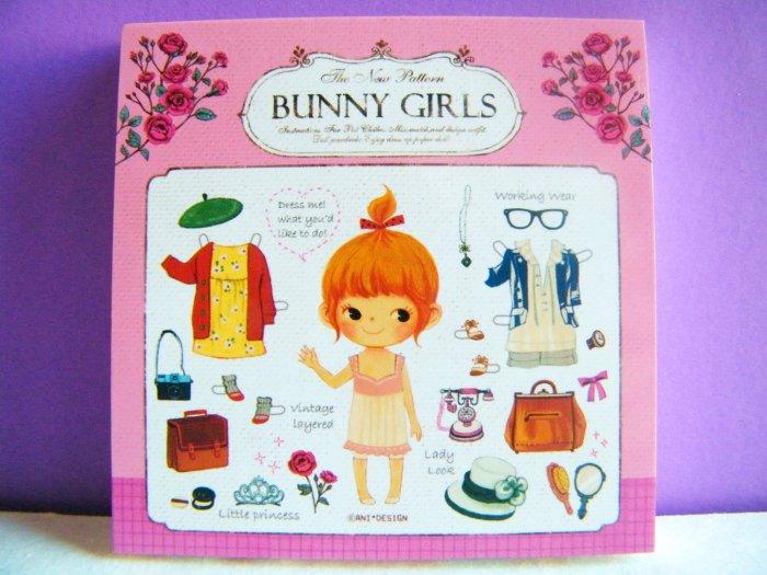 Bunny Girls Memo Pad, Made In Korea