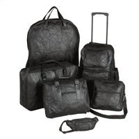 Genuine Leather 6pc Luggage Set