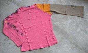 Pink women's cotton shirt blouse long sleeves size 2