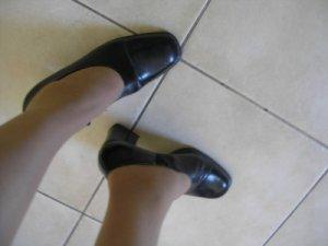 Women's NINE WEST black HEELS shoes sz 6