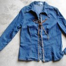 Women's jeans shirt blouse size 1