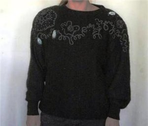 GORGEOUS Australian WOMEN'S black knit SWEATER SIZE  14