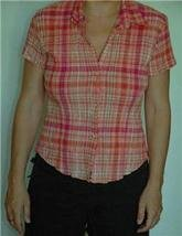 Pull & Bear short sleeves women button down shirt blous M