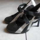 MILANO womens black strap heels pumps 37