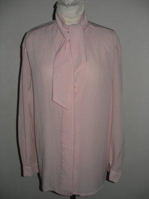 ARA pink pleated elegant shirt blouse long sleeves top sz 14 / 40