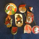 Vintage original lot of 9 SOVIET RUSSIAN CCCP badges medals pins