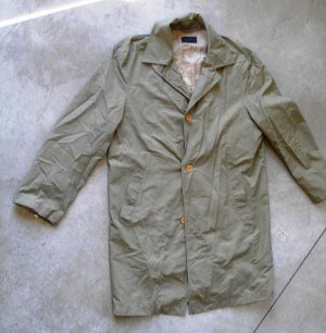 GERSHON BRAM unisex wind breaker khaki coat jacket front pockets button front sz M