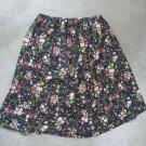 Beautiful women's blue flowers print M-L skirt