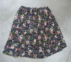 Beautiful women's blue flowers print M-L skirt