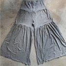 Boho Gray HILA womens tricot flared trousers pants size 1 - 38