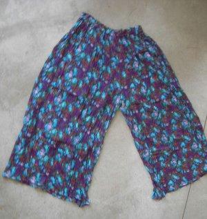 Purple blue multicolor cotton pants skirt floral sz L