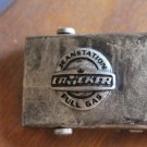 "Canvas Military Style CROCKER Full Gas belt brass buckle brown 43.5"""