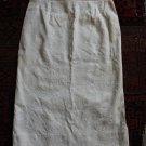 Vintage straight skirt jupe rock gonna falda great cut floral texture below knee sz 36