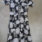 ANAT MANOS Retro floral short sleeves dress robe kleiden vestire sz S - M