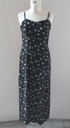 CLAUDE ZANA PARIS black floral strapes long maxi dress sz M / 2