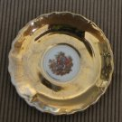Vintage made in Japan Porcelain Saucer Plate Gold plated Romantic picture 4""