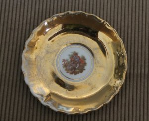 """Vintage made in Japan Porcelain Saucer Plate Gold plated Romantic picture 4"""""""