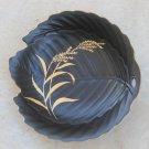 Leaf Shaped Vintage Plate Folk Art - Golden Black GOLDEN SUZUKI GS - 10
