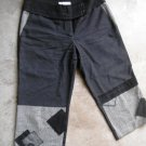 THE EMPRESS Black & grey patches cropped pants used SZ m